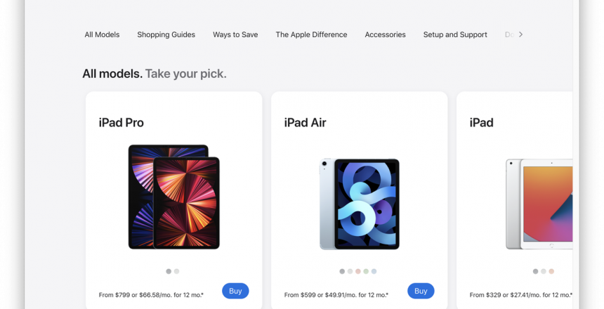 Apple launches big redesign of its online store