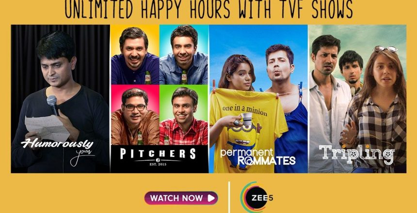 As demand for more content rises, Zee5 partners with TVF Promo of TVF shows on Zee5