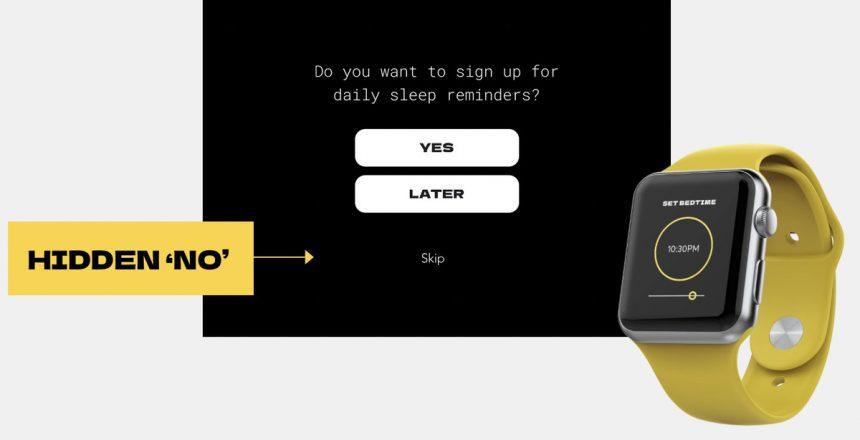 New Dark Patterns tip line lets you report evil tech company menus
