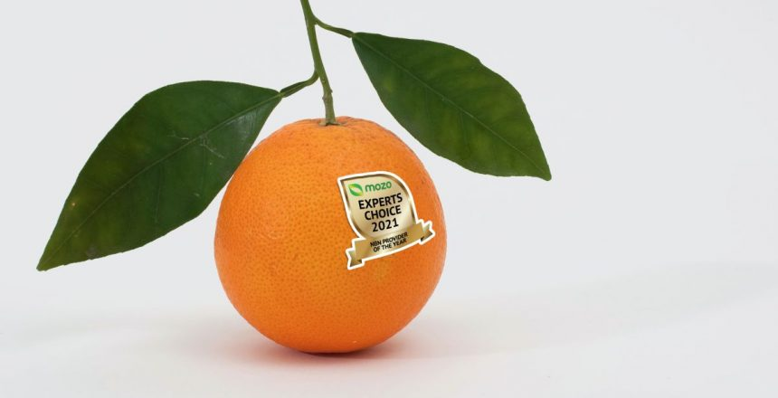 Tangerine, TPG, Aussie Broadband and Spintel win big in 2021 Mozo NBN awards A tangerine with a MECA sticker