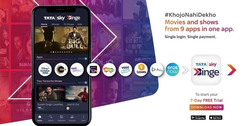 Tata Sky Binge app now available with new Rs 149 mobile-only plan Tata sky Binge