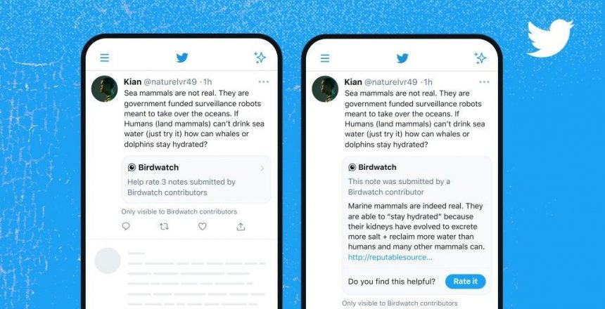 Twitter brings 'Birdwatch' fact checks inside tweets - Only for select group now Screenshot of Birdwatch feature in Twitter