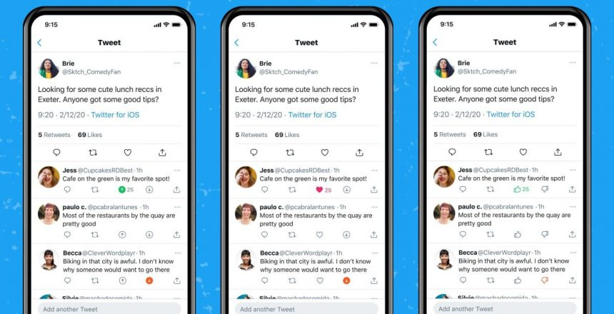 Twitter is testing a downvote button that's visible only to you Twitter downvote, Twitter
