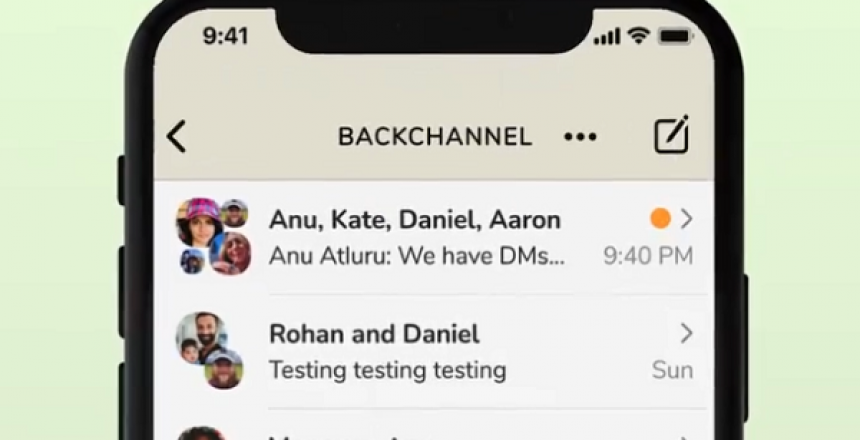 You can now slide into other users' DM on Clubhouse - It calls it Backchannel Clubhouse's new feature for DMing users